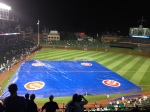 After the game, they covered the infield.
