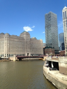 A view of Merchandise Mart and the Chicago River... My beautiful city