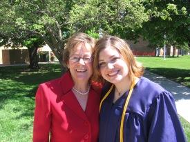 Me with my high school principal at graduation (2005)